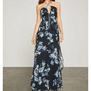 BCBG Floral Midnight Maxi Dress NWT